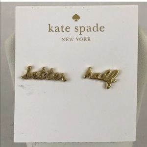 Kate Spade Say Yes Better Half Stud Earrings